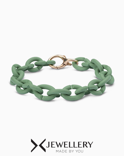 Pale Green Bronze Bracelet