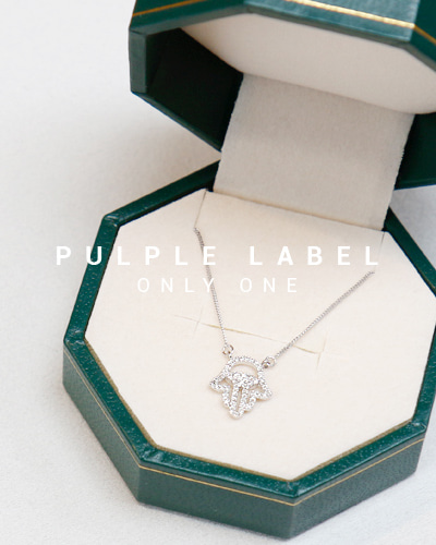 [Purple LABEL #13] Hamsa Diamond 18K Necklace