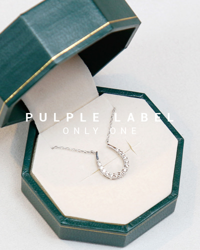 [Purple LABEL #13] Diamond Horse Shoe 18K Necklace