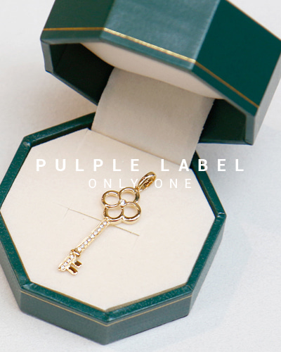 [Purple LABEL #13] Flower Key Diamond 18K Pendant