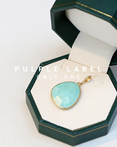 [Purple LABEL #14] Pebble Turquoise 18K Pendant