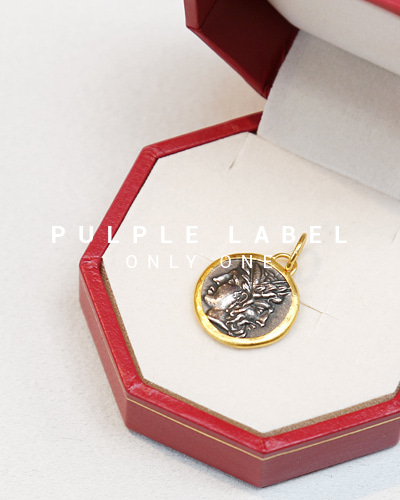 [Purple LABEL #14] 24K + Silver Janus Coin Pendant