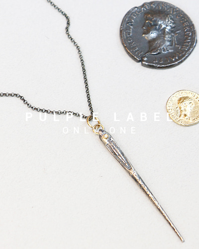 [Purple LABEL #14] 24K + Silver Ottoman Needle Diamond Pendant
