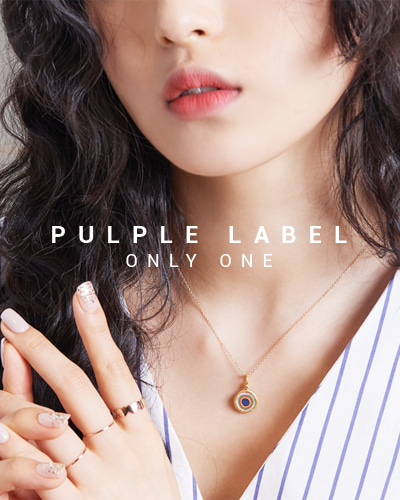 [Purple LABEL #15] 24K Rainbow Circle Diamond Pendant