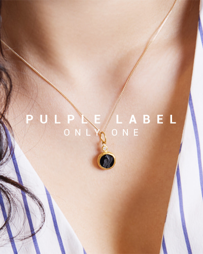 [Purple LABEL #15] 24K Onyx Blackbird Diamond Pendant