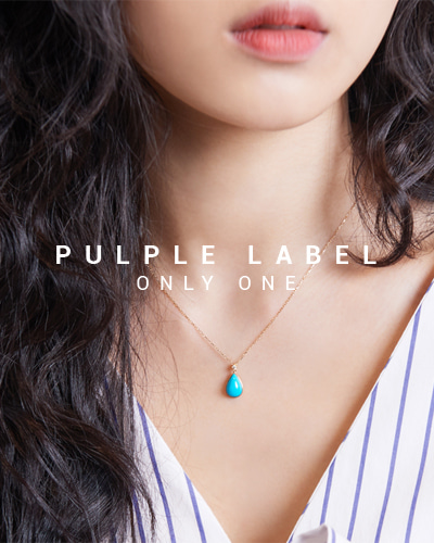 [Purple LABEL #15] Turquoise Diamond 18K Necklace