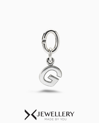G, Silver Link Charm