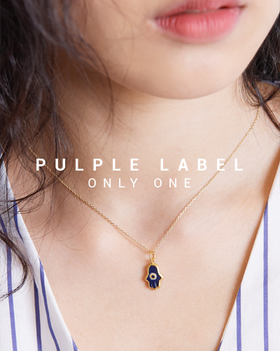[Purple LABEL #15] 24K Hamsa Evil Eye Pendant