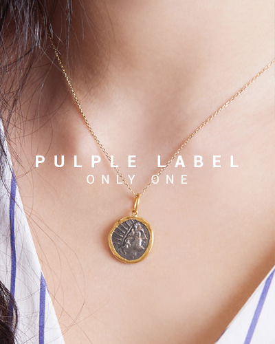[Purple LABEL #15] 24K + Silver Indian Coin Pendant