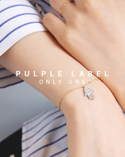 [Purple LABEL #15] Diamond Hamsa 18K Bracelet