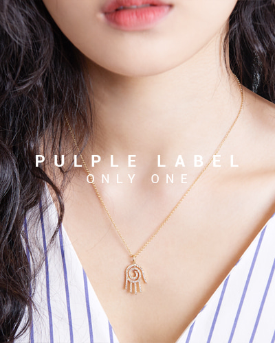 [Purple LABEL #15] Diamond Funny Hamsa18K Necklace