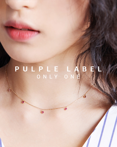 [Purple LABEL #15] 18K Ruby drop necklace
