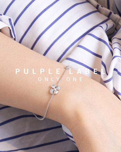 [Purple LABEL #15] Flower Diamond 18K Bracelet