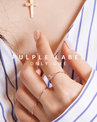 [Purple LABEL #15] Square Pleats Diamond 18K Ring