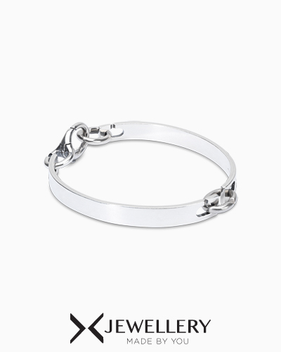 [X Jewellery] Twice as Nice Silver Bangle Bracelet