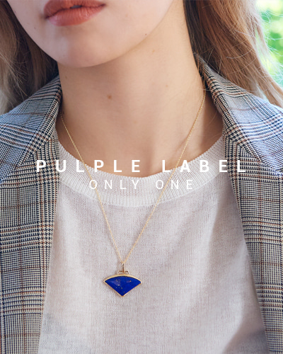 [Purple LABEL #16] Triangle Lapis Lazuli 14K Pendant