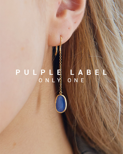 [Purple LABEL #16] Natural Blue Sapphire 18K Earrings