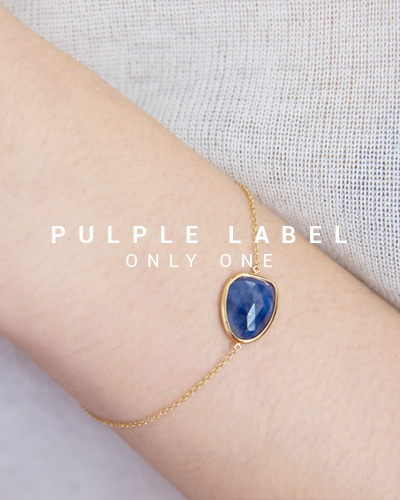 [Purple LABEL #16] Natural Blue Sapphire 18K Bracelet