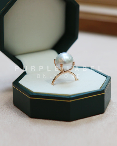 [Purple LABEL #20] 14K Simple Southsea Pearl Ring