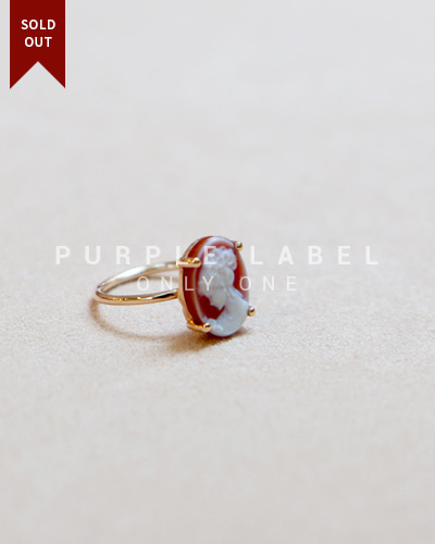 [Purple LABEL #20] 14K Lady Cameo Ring