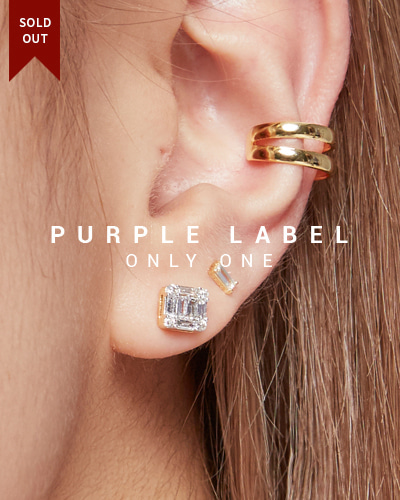 [Purple LABEL #19] 18K Modern Square Tepa Diamond Earrings