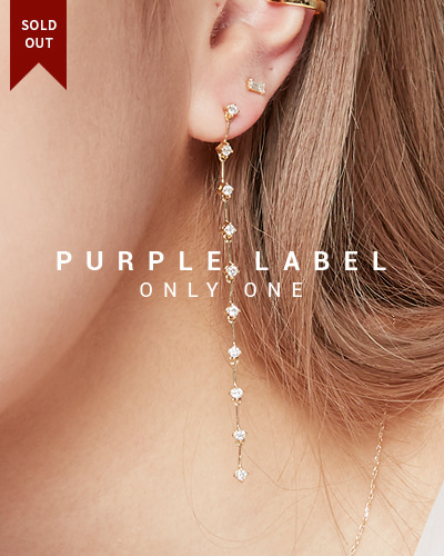 [Purple LABEL #19] 18K Wonderful Diamond Earrings (18K Yellow gold)