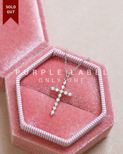 [Purple LABEL #20] 18K Pure Diamond Cross Pendant (체인별도)