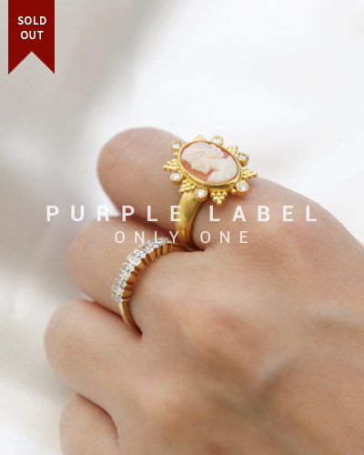 [Purple LABEL #19] 24K Cameo Diamond Ring