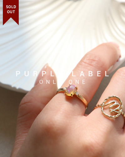 [Purple LABEL #20] 18K Rainbow Opal Ring